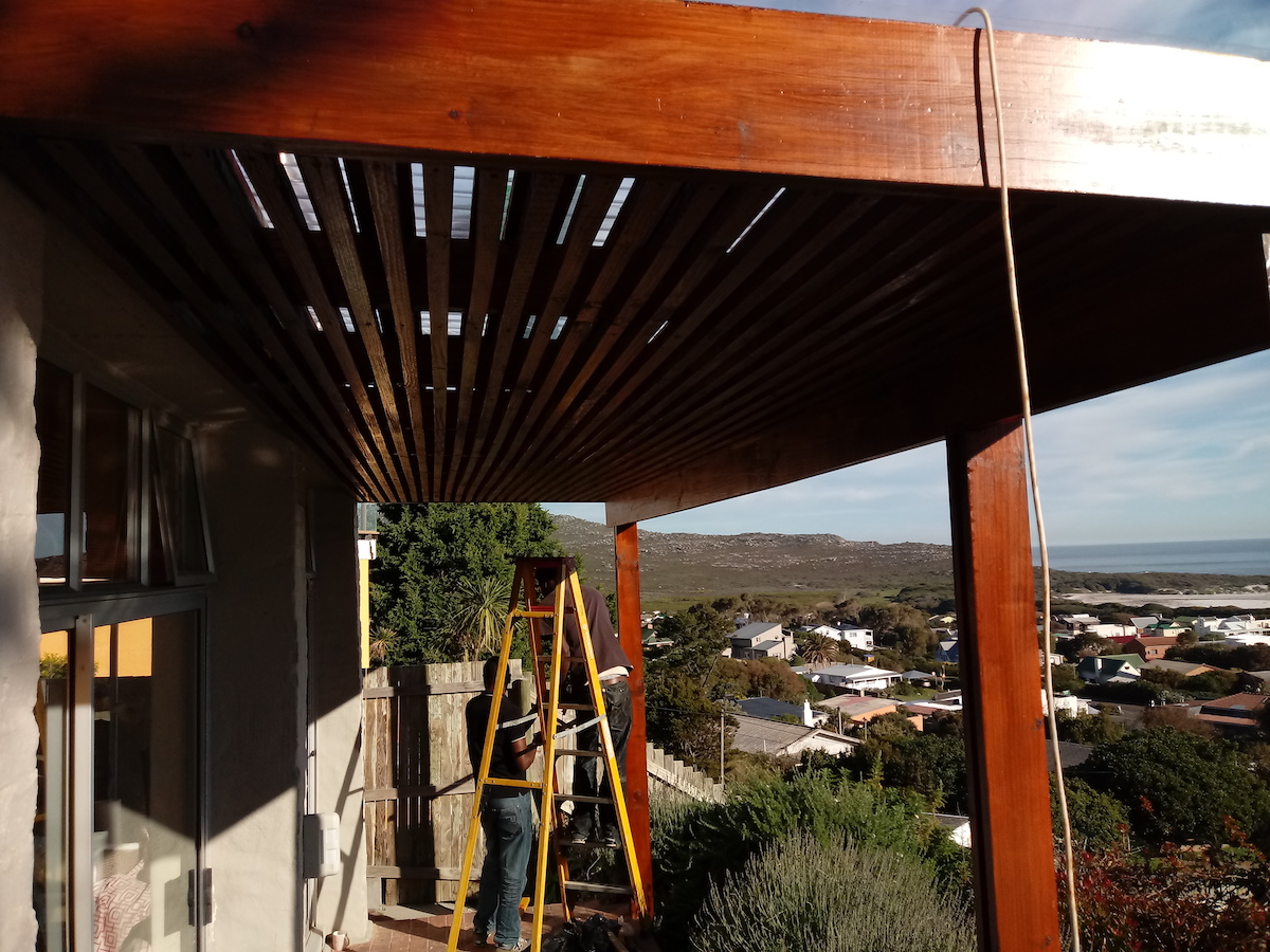 Wooden Sun Shade Awning Cape Town - Cape Decking 2