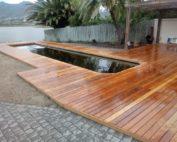 wooden pool decking cape town hout bay Garapa wood