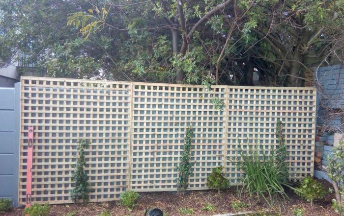 wooden trellis fence