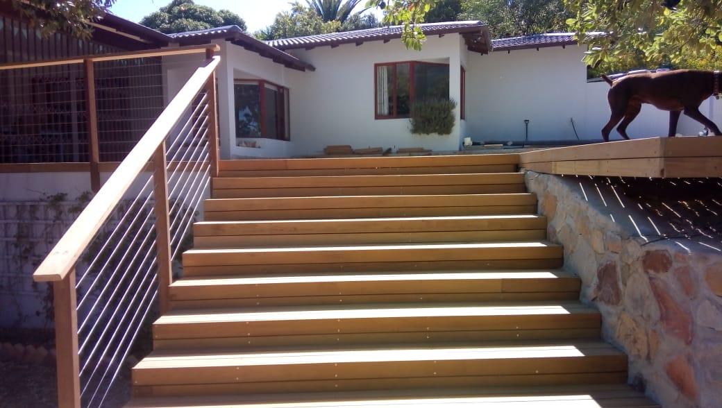 Staircase Garapa Wooden Pool Decking Cape Town