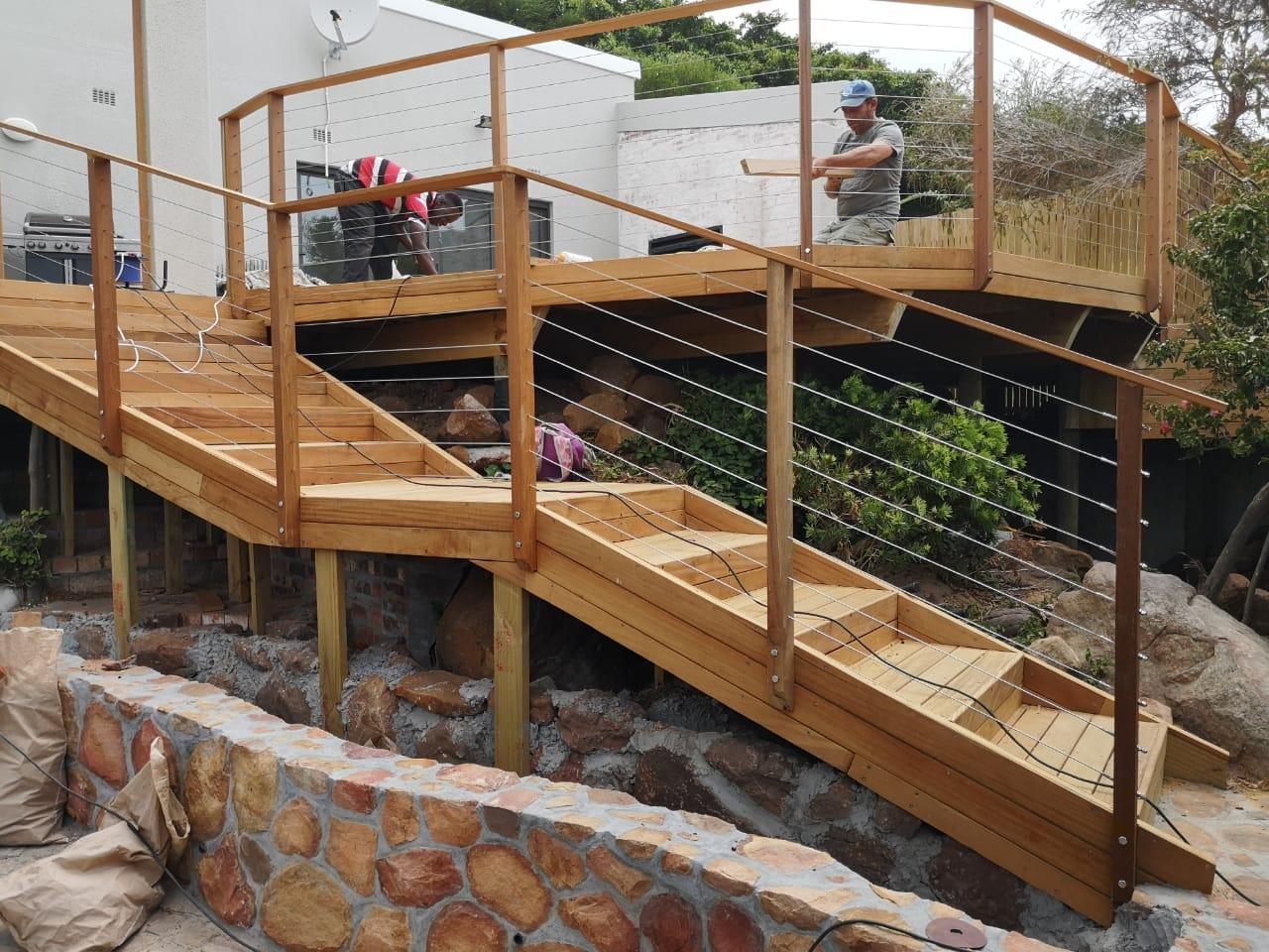 Garapa wooden decking cape town 1